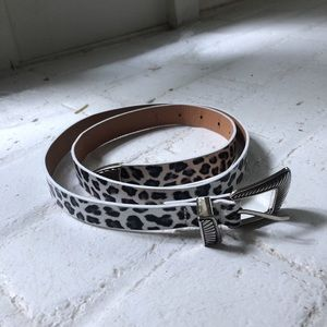 Nasty Gal Leopard Belt 42""